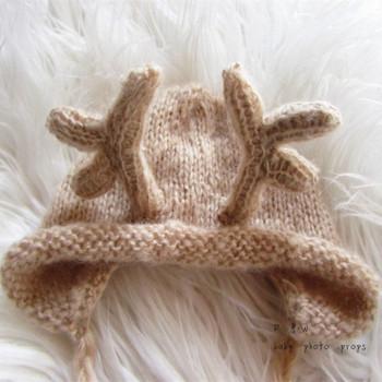 Rentier Hut Baby Weihnachtsgeschenk Taschen Häkeln Baby Tier Hut ...