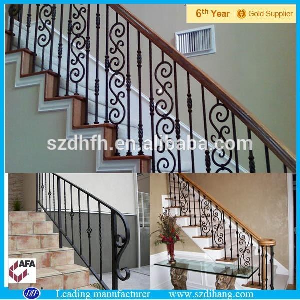 De hierro forjado barandas porche escalera de hierro de - Escaleras de hierro forjado ...