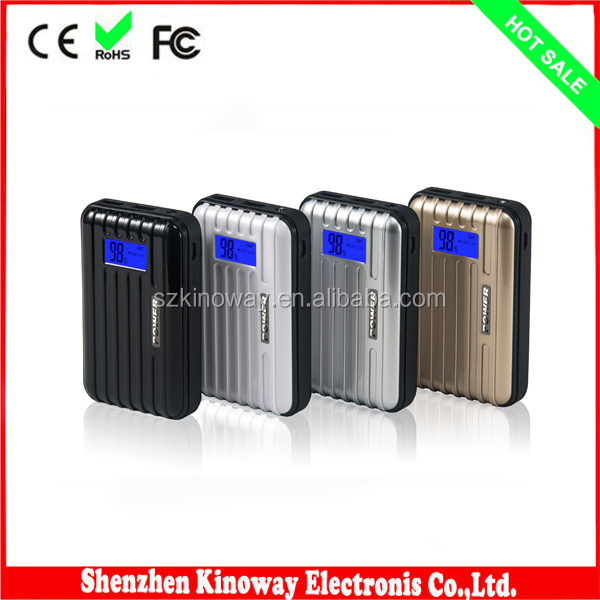 Factory Produce 2014 External Aluminum AA Battery Power Bank with Led Charge Indicator