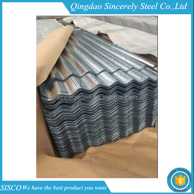 600-1250mm high strength corrugated aluminium/zinc long span roofing sheet