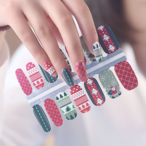 Christmas tree nails 3D sticker nail art festival decoration