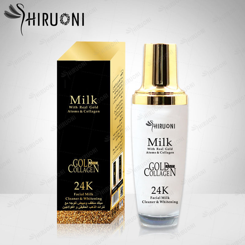 New Packing 24K Gold Deep Cleaning Milk Whitening Face Lotion OEM