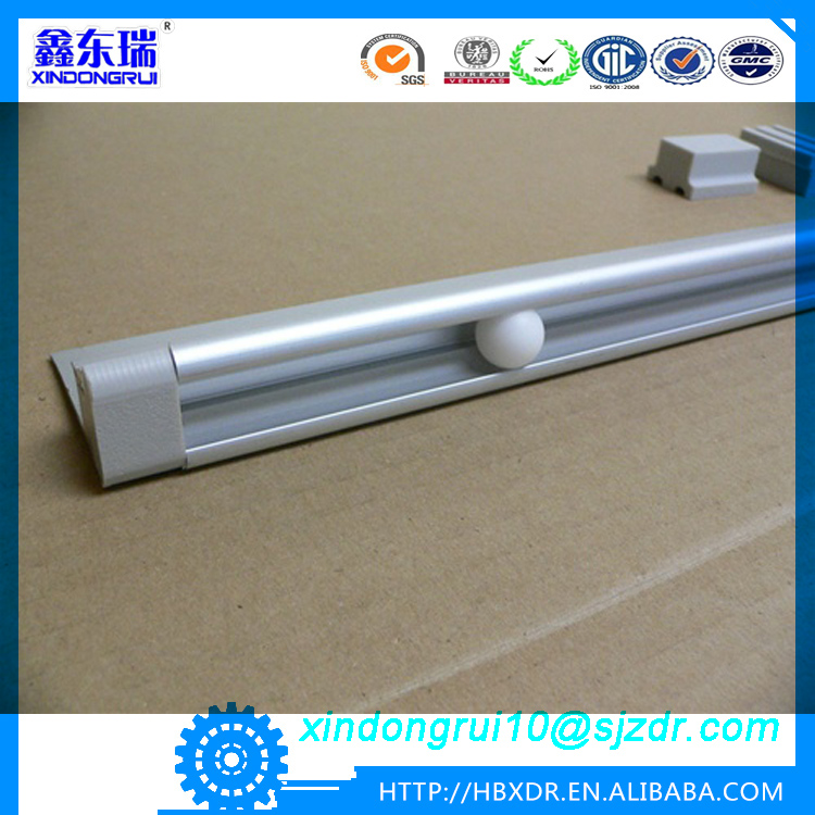 factory direct aluminum curtain rod and curtain rail tracks guide can be mounted shutter blinds