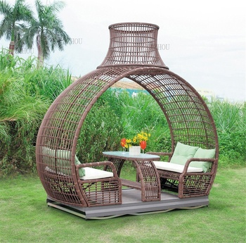 Swing Power Rocking Chair For Four Indoor And Outdoor Environmental Woven Rattan Swing Lying Bed Muebles De Terraza Y Jardn Buy Muebles De Terraza Y