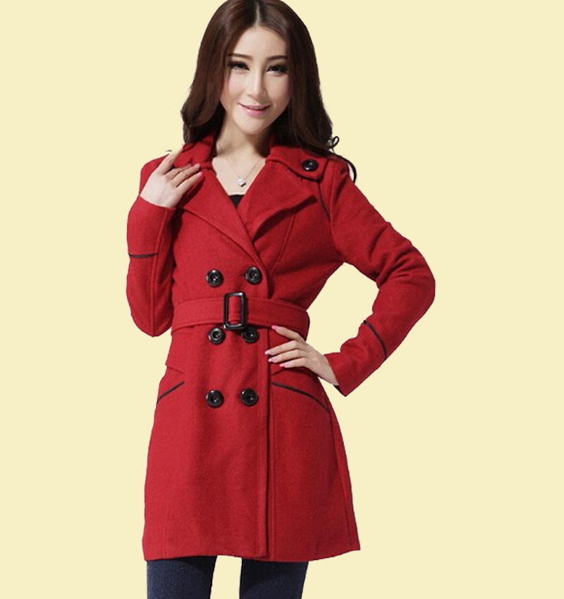 44ff8803300 Get Quotations · winter coats women fashion Slim woolen coat long woolen  coat Girls sobretudo shirt casaco feminino blusa