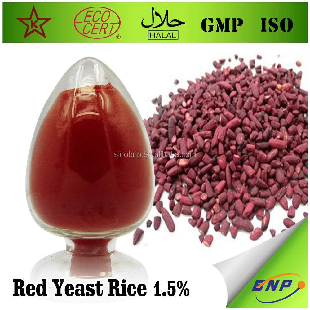 Chinese Factory supply 100% natural 1.5% red yeast rice extract