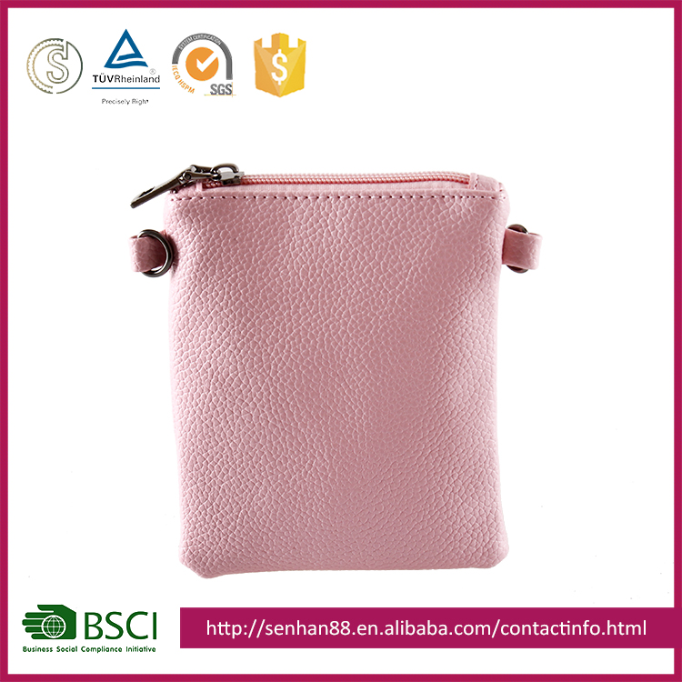 fashion wholesale pink Support custom logo PU promotional one small shoulder bag