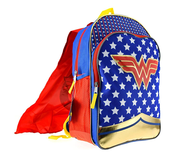 Get Quotations · Wonder Woman Girls Backpack w Detachable Cape Standard 665bc926c9d69