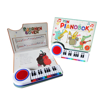 2017 High Quality Children Piano Music, Story Book with Hardcover Book Printing & Push Button