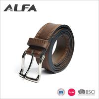 Alfa Manufacturer Italy Designer Wholesale BSCI SEDEX Brown Male Vintage Belt Mens
