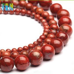XULIN Italy natural coral picasso gemstone round agate loose beads