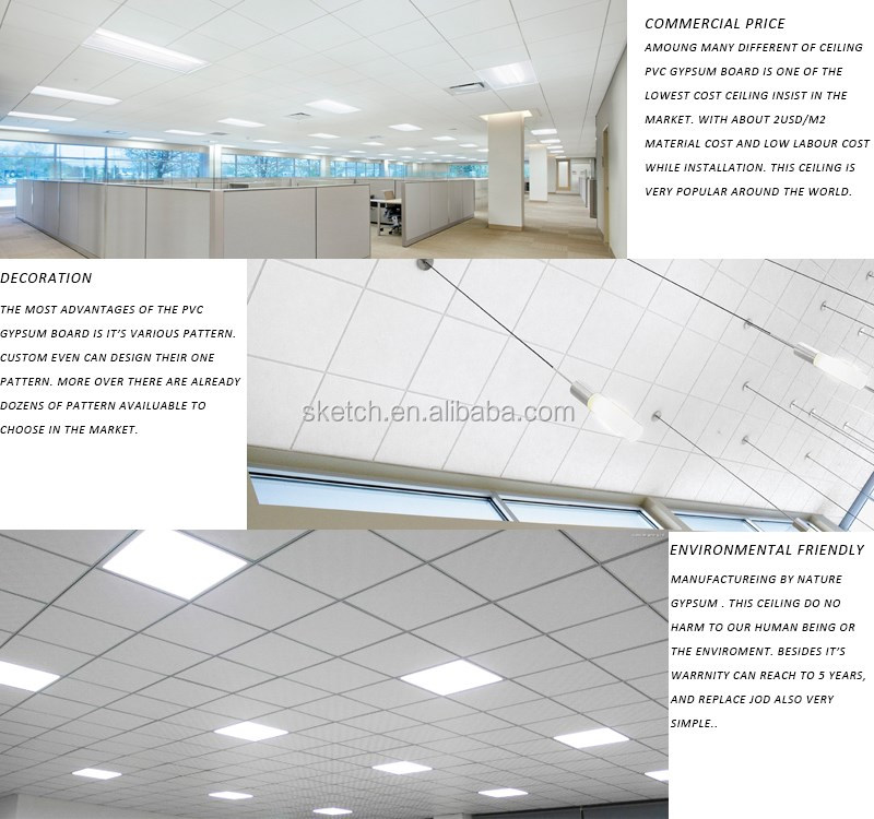 Pvc gypsum types of suspended ceiling buy