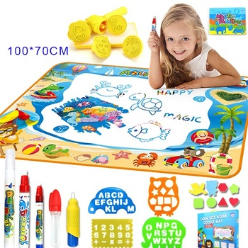 KHY Custom Kids Painting Writing Doodle Gift Add Water Drawing Magic Pen Aqua Magic Doodle Mat