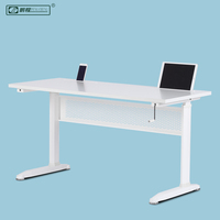 Simple Elegant White Oficina Specific Use Sit Stand Desk and Table
