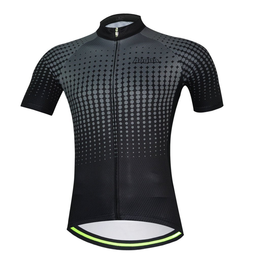 ae3890cbb43 Get Quotations · Aogda Mens Cycling Jersey Silicon 3d Padded Short Sleeve  Bicycle Skinsuits Shirt Summer Bib Shorts Cycle