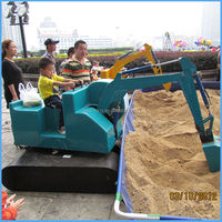 360/180 Degree Rotation Kid Amusement Excavator Rides Kids Toy ...