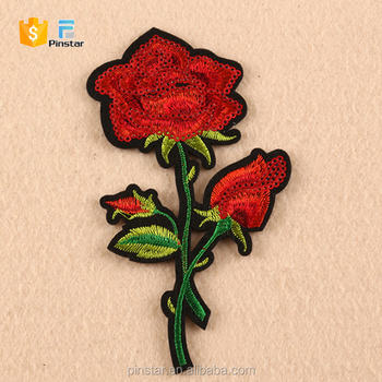 3c37e444dd60 China Factory High Quality Custom Embroidery Rose Patches - Buy ...