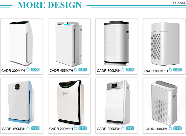 Smart Wifi App Control Home UV Ionization Ionizer Hepa Filter Air Cleaner Portable Air Purifier
