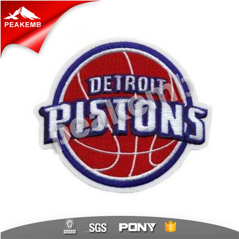 Custom Basketball Pistons Embroidery Patch Logo For Tshirts