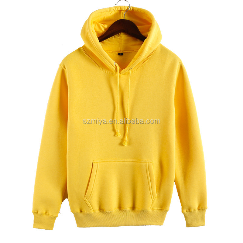 Unisex 500gsm thicke fleece warm winter hoodies couples pullover plain hoodies