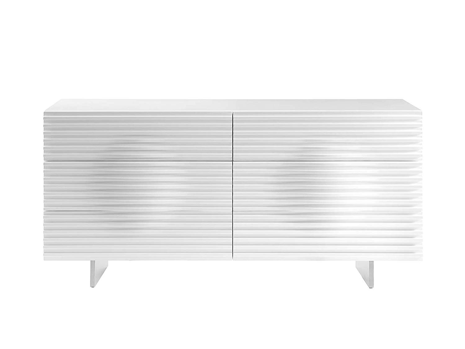Get Quotations · Casabianca Furniture CB 4995D WH MOON High Gloss White  Lacquer Dresser By Casabianca Home