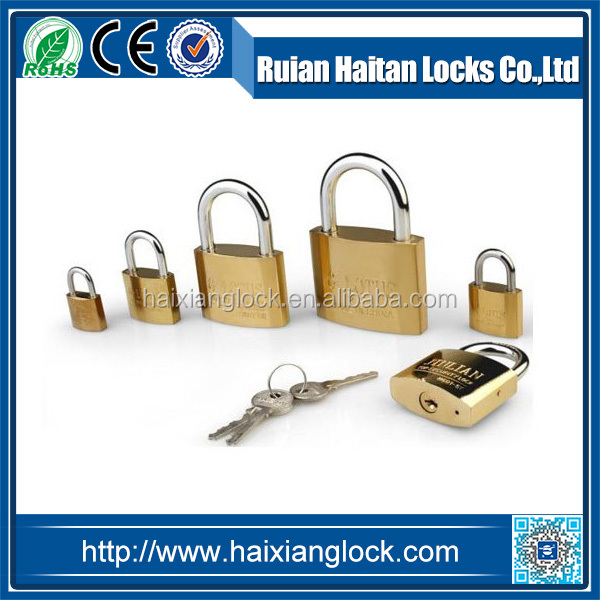 Factory Sell !gold Plated Arc Type Padlock