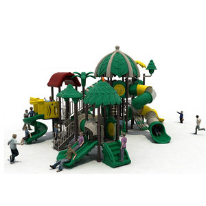 Forest style Customized outdoor stainless tube steel slides,kids equipment