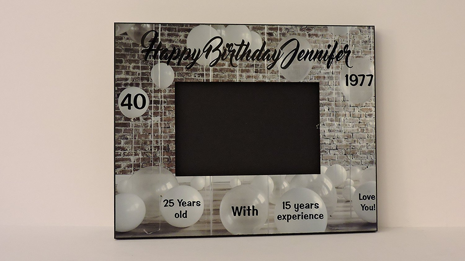 40th Birthday Gift- Photo Picture Frame, ANY Birthday, by Forever Me Gifts