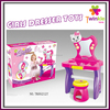 Girls dresser table with mirror and chair child toy dressing table toys