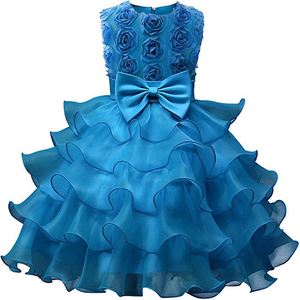 Customized Girl Dress Kids Ruffles Lace Party Wedding Dresses