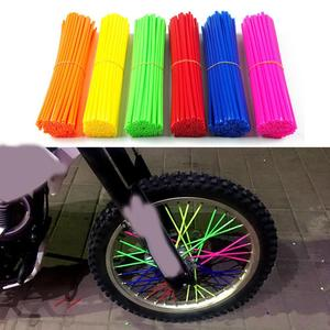 Universal Wheel Spoke Wraps Kit Rims Skins Covers Guard Protector Motocross