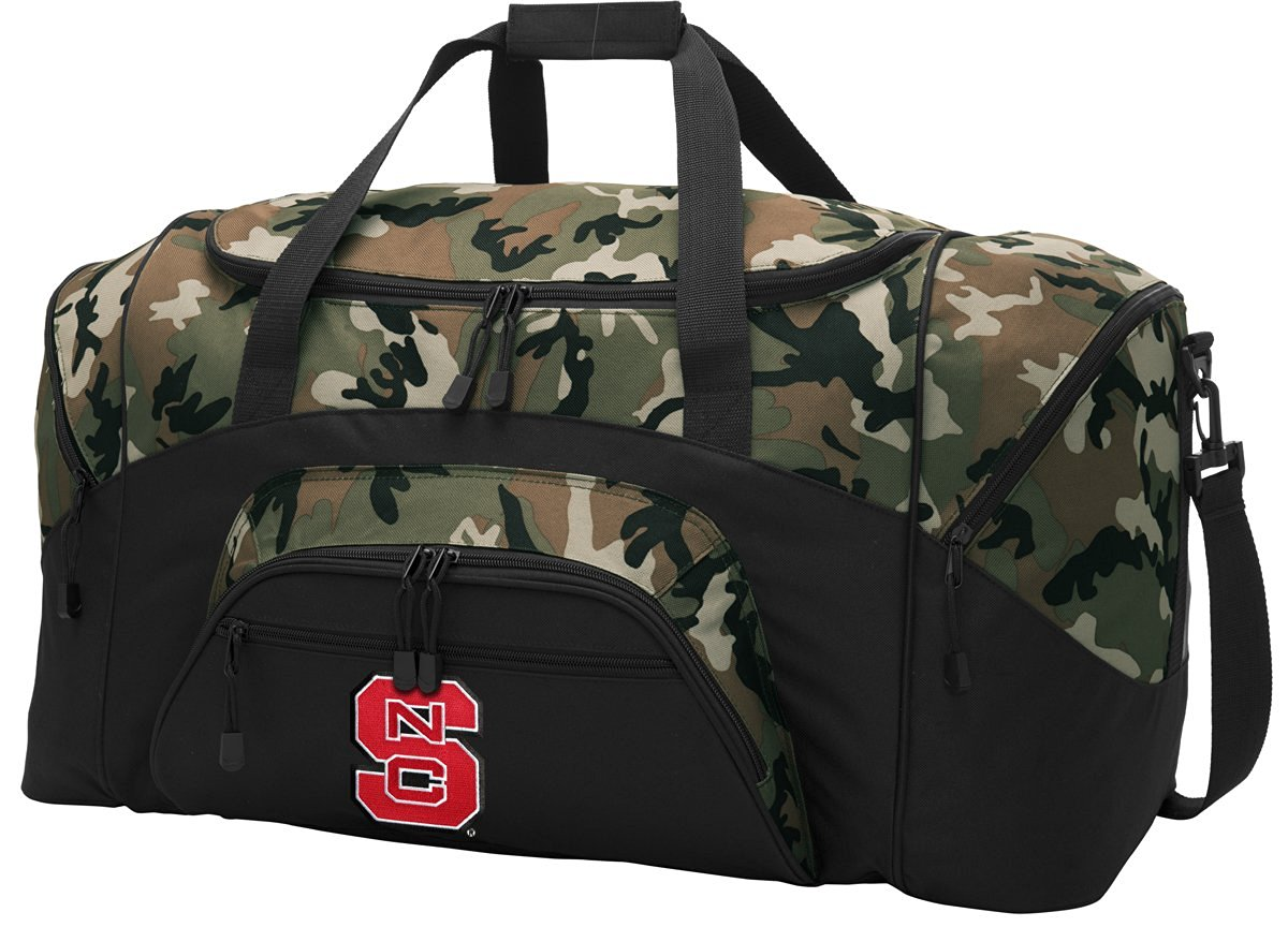 NC State Duffle Bag Camo Wolfpack Gym Bag - Luggage Bag