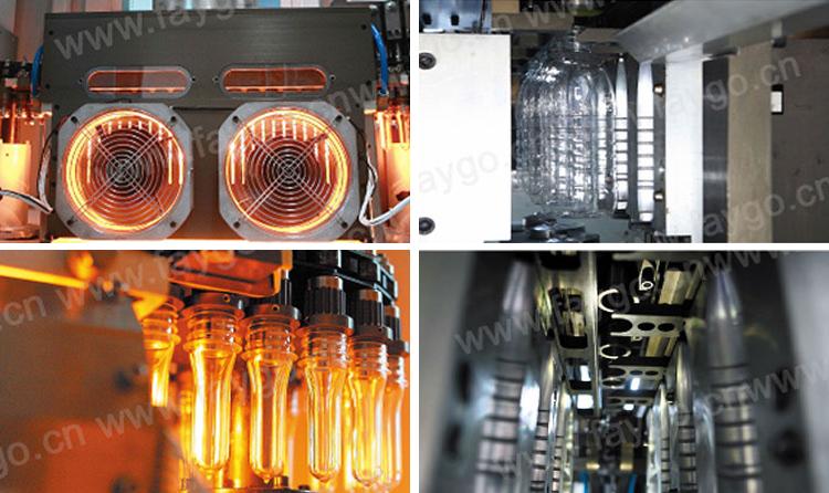 Sepenuhnya Otomatis Harga Rendah Harga Peregangan Ekstrusi 1 Liter Kecil Plastik Pet Botol Air Mineral Membuat Mesin Bertiup