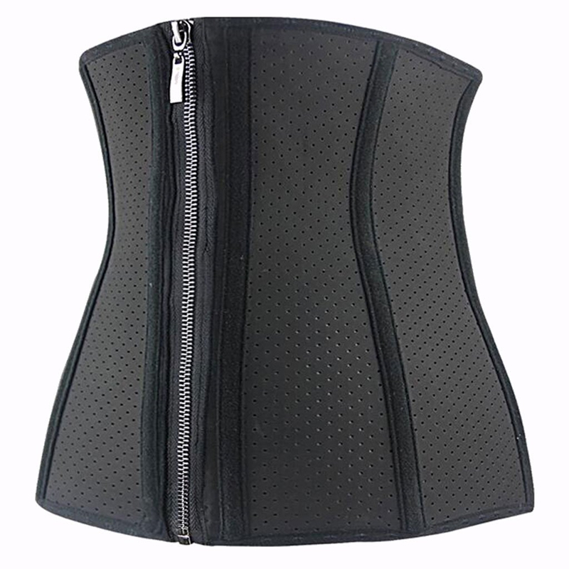 Hot Sale Shapers Latex Waist Cincher Sweat Waist Trainer Corset with Zip and Clip