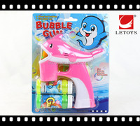 popular summer toys plastic flashing bubble gun with 2 bottles of bubble water