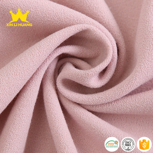 Wholesale Double Layer Polyester Viscose Elastane Four Stretch Crepe Fabric for Women Wear