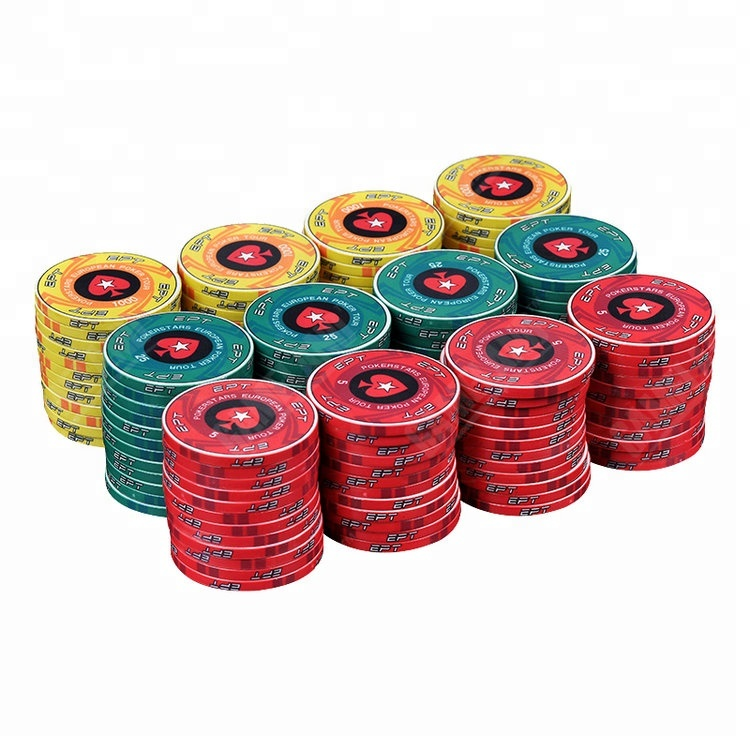Met custom stickers 3 kleur poker chip