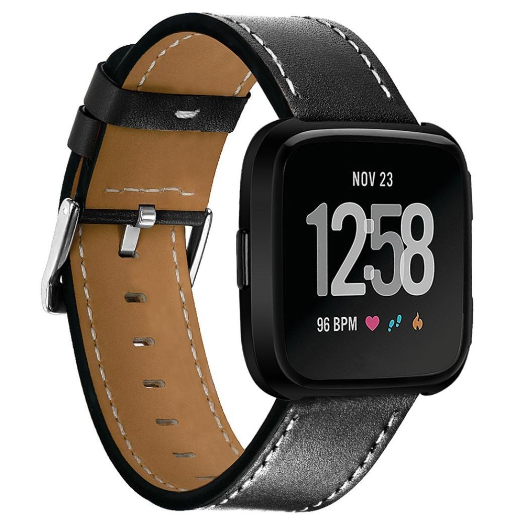 Appoi Wristbands For Fitbit Versa,Luxury Leather Band Bracelet Watch Band For Fitbit Versa Watch Straps