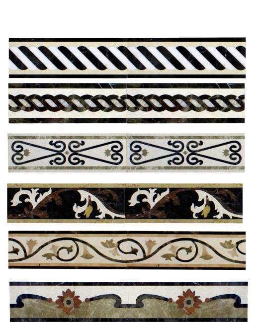 Nature Custom Made Marble Flooring Border Designs - Buy ...