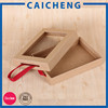 Kraft paper packing box for phone case with PVC window