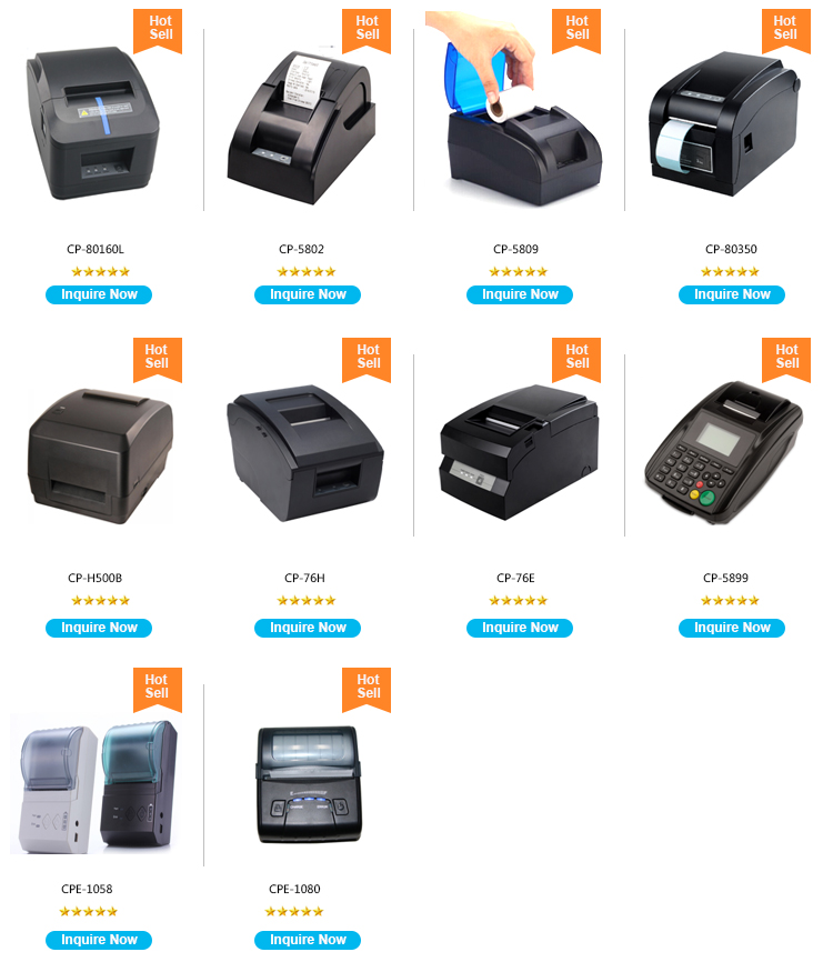 High speed 3 input 80mm thermal printer could print receipt pos printer