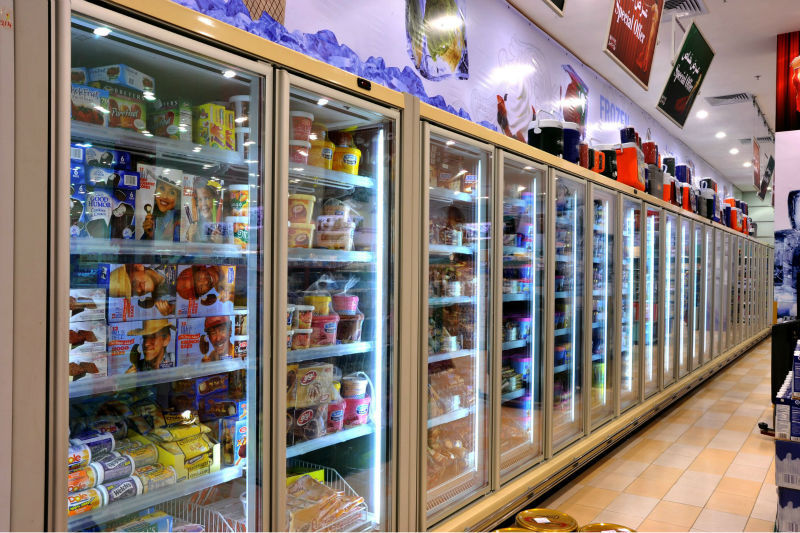 Commercial Refrigerator Shelves For Beverage Supermarket