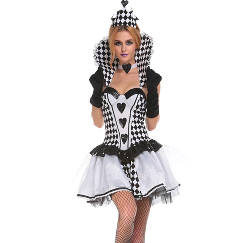 Chess Pattern Fancy Dress Black Swan Gothic Queen Halloween ...