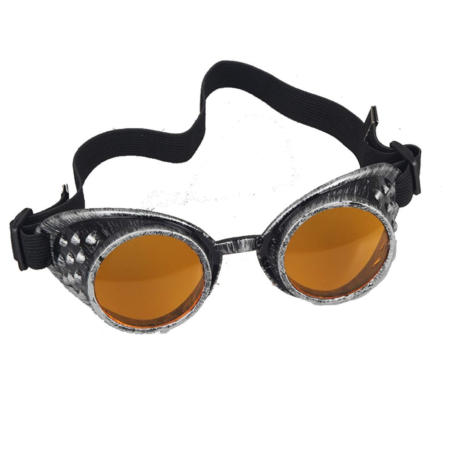 13f2ddab37d8 Get Quotations · Vintage Goggles Steampunk Glasses Welding Goth Cosplay  Halloween Party Goggles