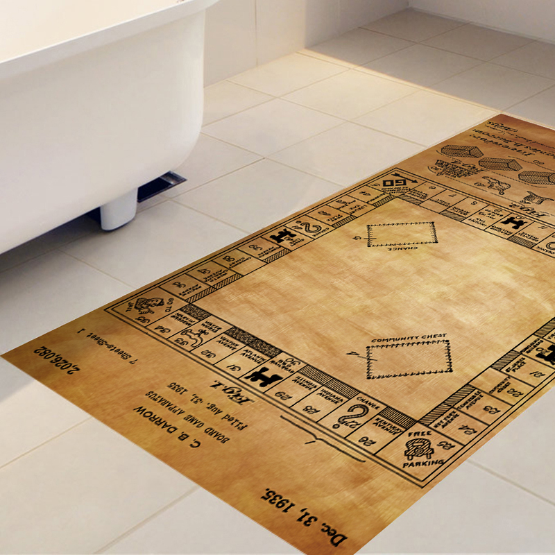 DB017 Game of Monopoly Anti-Slip Removable 3D Floor Sticker with size 60*120cm