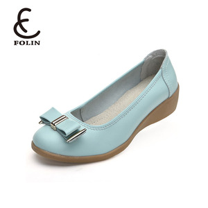 dressed up heels round toe slip on ladies relax shoes Export&Import women fancy wedge heel shoes