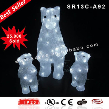 outdoor acrylic polar bear christmas decoration