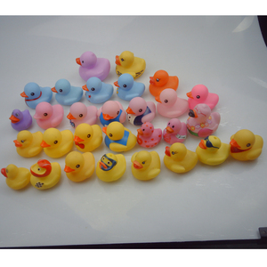Baby Bath Toys PVC Children Modeling Duck Toys Cute Small Vinyling Ducks Toy Color Manufactory