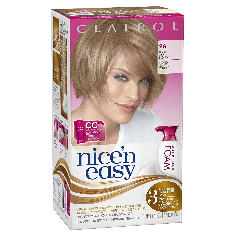 Buy Clairol Nice N Easy Foam Hair Color 9a Light Ash Blonde 1 Kit In