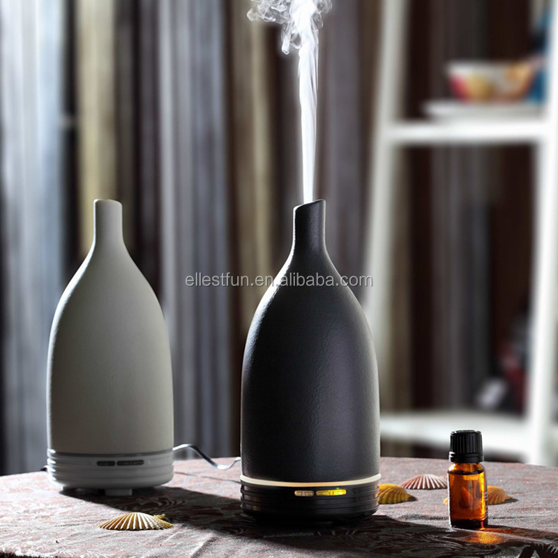 Ceramic Aroma Diffuser aromatherapy oil diffuser wholesale, ultrasonic air humidifier purifier with warm white LED light